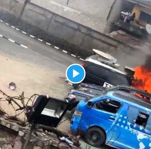TVC set on fire