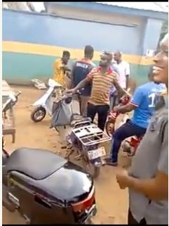 The hoodlums set police station on fire and released seized motorcyles