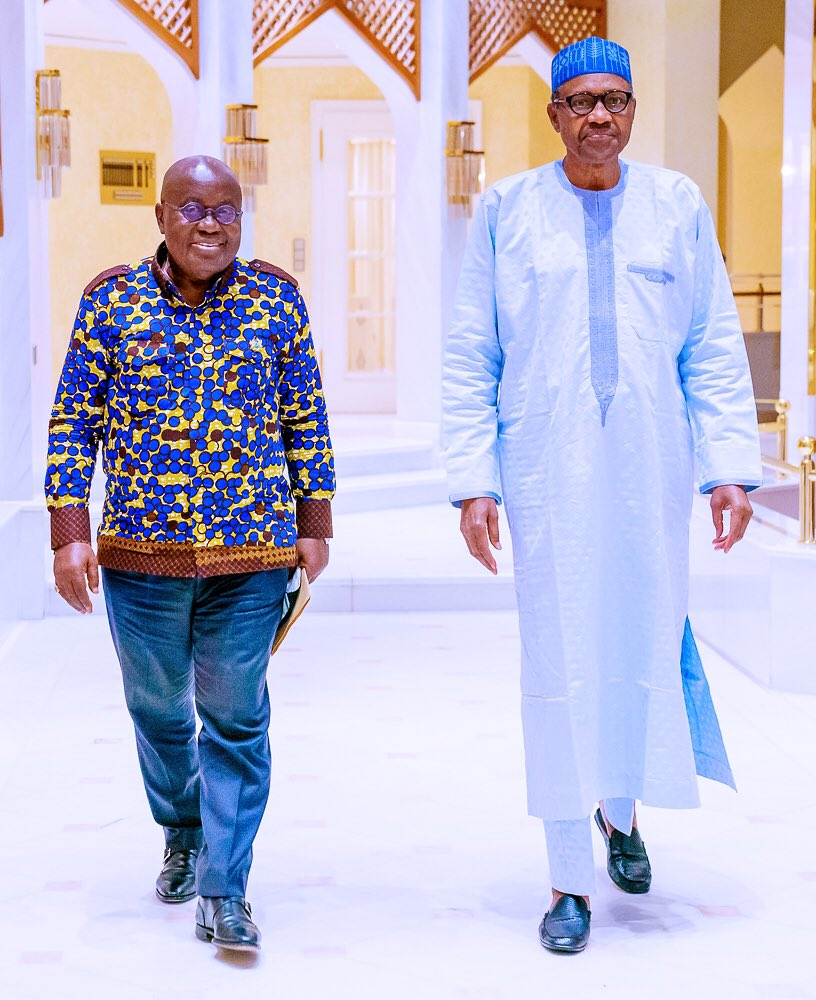 Nana Akufo-Addo and Muhammadu Buhari