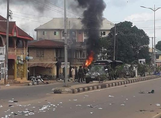 The youths burnt the stations in Ebonyi