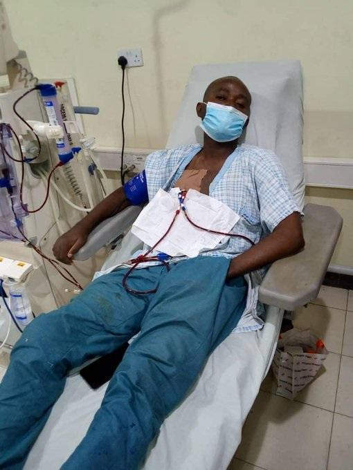 The woman's husband was bedridden and in dire need of kidney tranplant