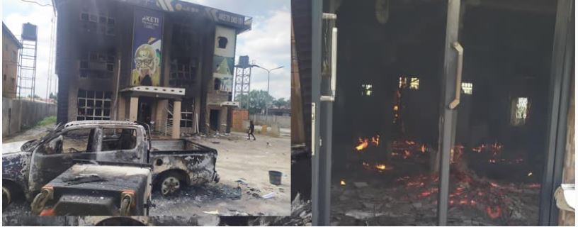 Akeredolu's campaign office set ablaze