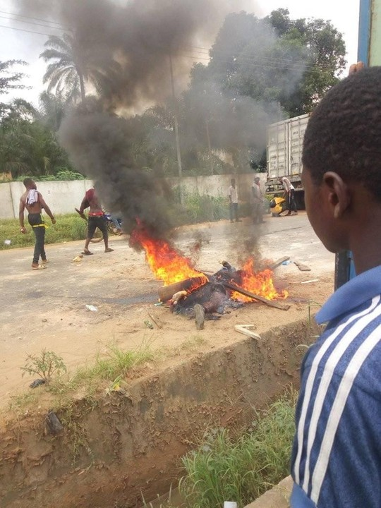 Police officer burnt to death in Anambra