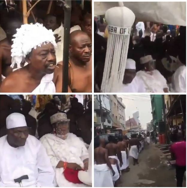 Ritual Rites Held At Isale Eko To Welcome The Oba Of Lagos And His Staff Of Office To The Palace (Photos)