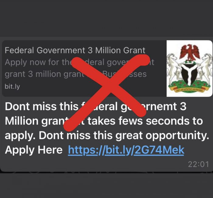 FG issues alert for grant scam