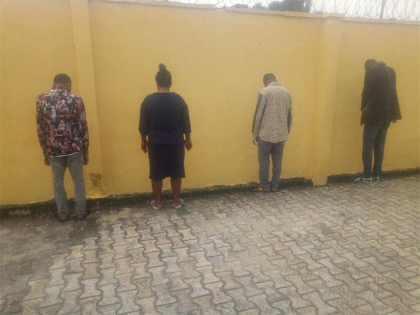 The suspects after they were arrested by DSS