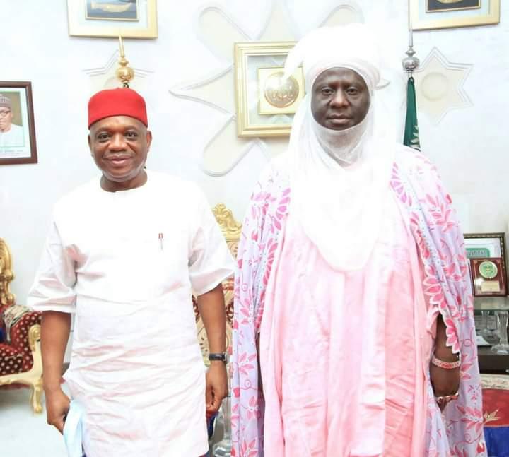 Orji Kalu meets with Emir of Minna