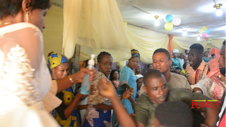 Serious Commotion As Man Storms Church, Disrupts Wedding Between His Wife Of 20 Years And Her New Lover In Lagos (Photos)