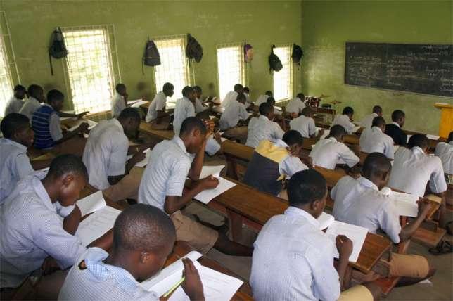 WAEC students writing exams (file photo)