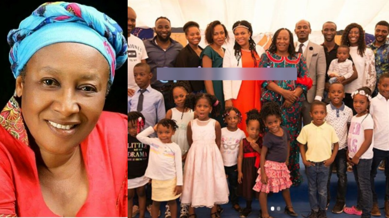 Patience Ozokwo and her family