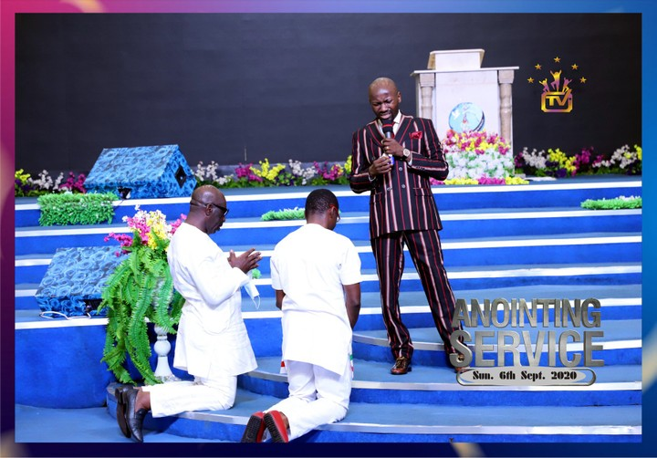 Apostle Suleman prays for Governor Godwin Obaseki