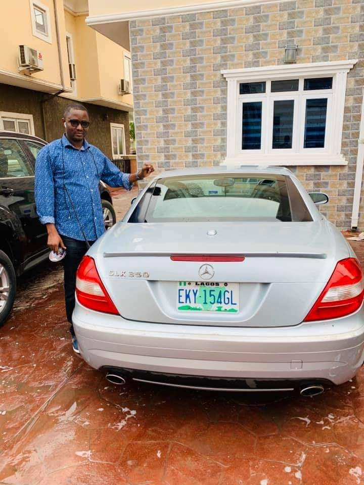 Psalm Okpe shows off his new expensive toy