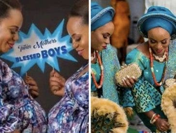 The twin sisters welcome baby boys days apart