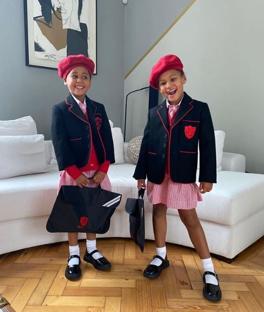 Mikel shares photos of his daughters on their first day at school