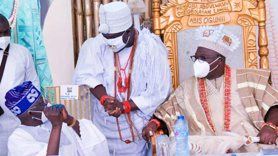 Ooni of Ife, Oba Adeyeye Ogunwusi and Bola Tinubu