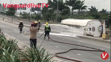 Tanker falls