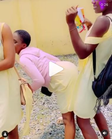 Student twerking to celebrate end of WAEC examination