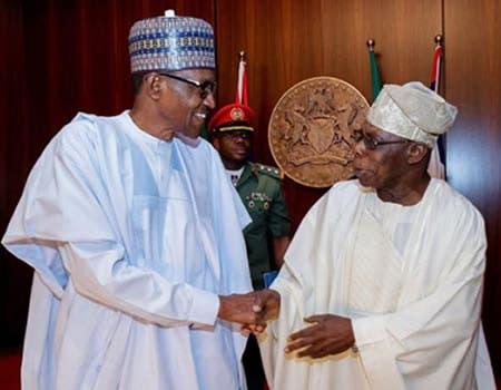 Muhammadu Buhari and Olusegun Obasanjo