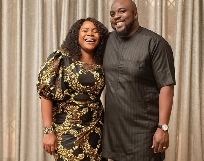 Omawumi and her husband in new photo