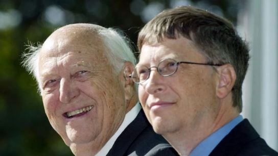 Bill Gates and his father Williams