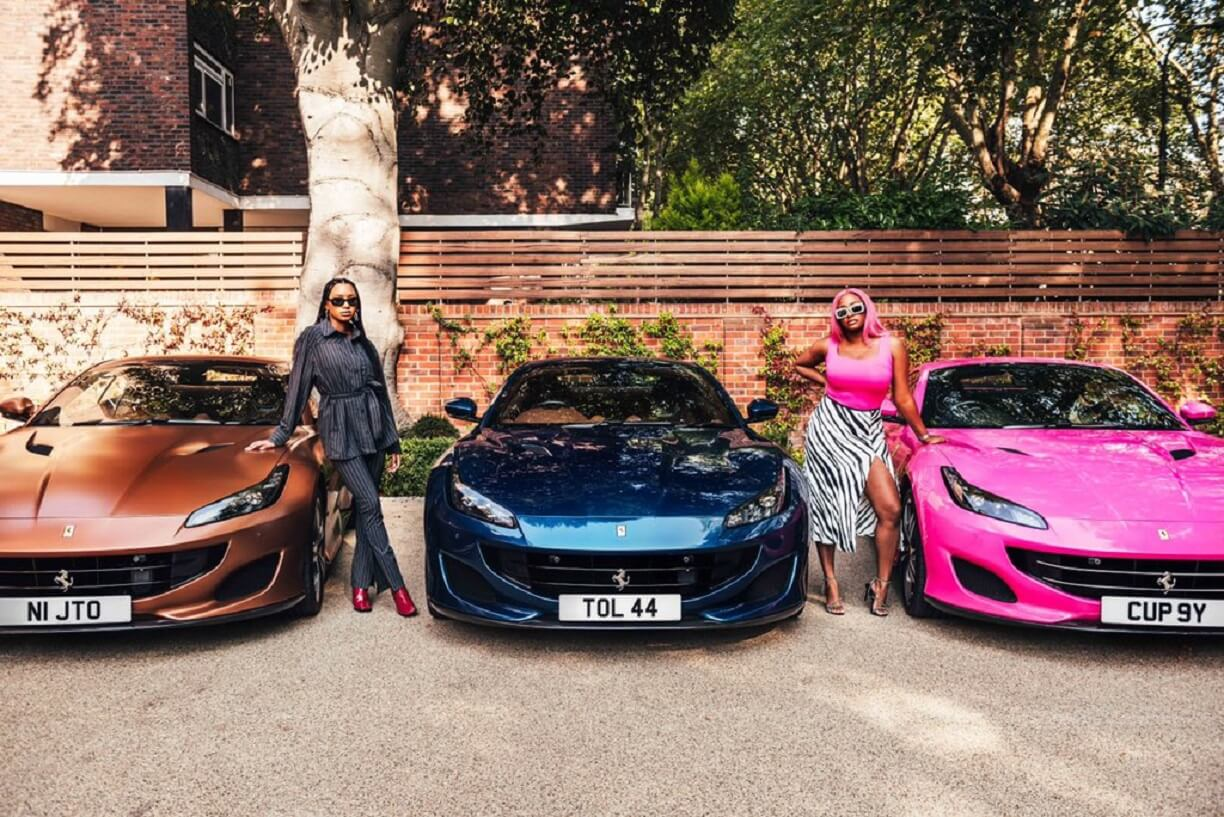 The ferraris Otedola bought for his daughters