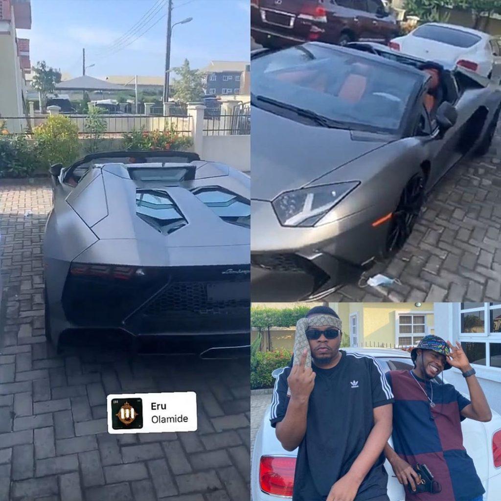 Olamide buys expensive Lamborghini Aventador