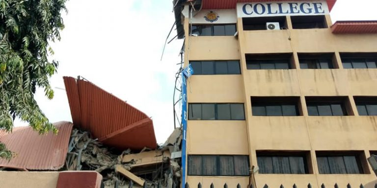 Photos Of School Building Which Came Crashing Down In Lagos