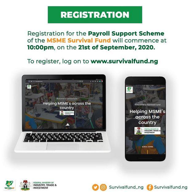 FG Opens Online Portal For Nigerians To Access N75billion Survival Fund
