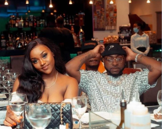 Chioma on a date with Davido