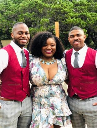 The woman took to her social media page to show off her husbands