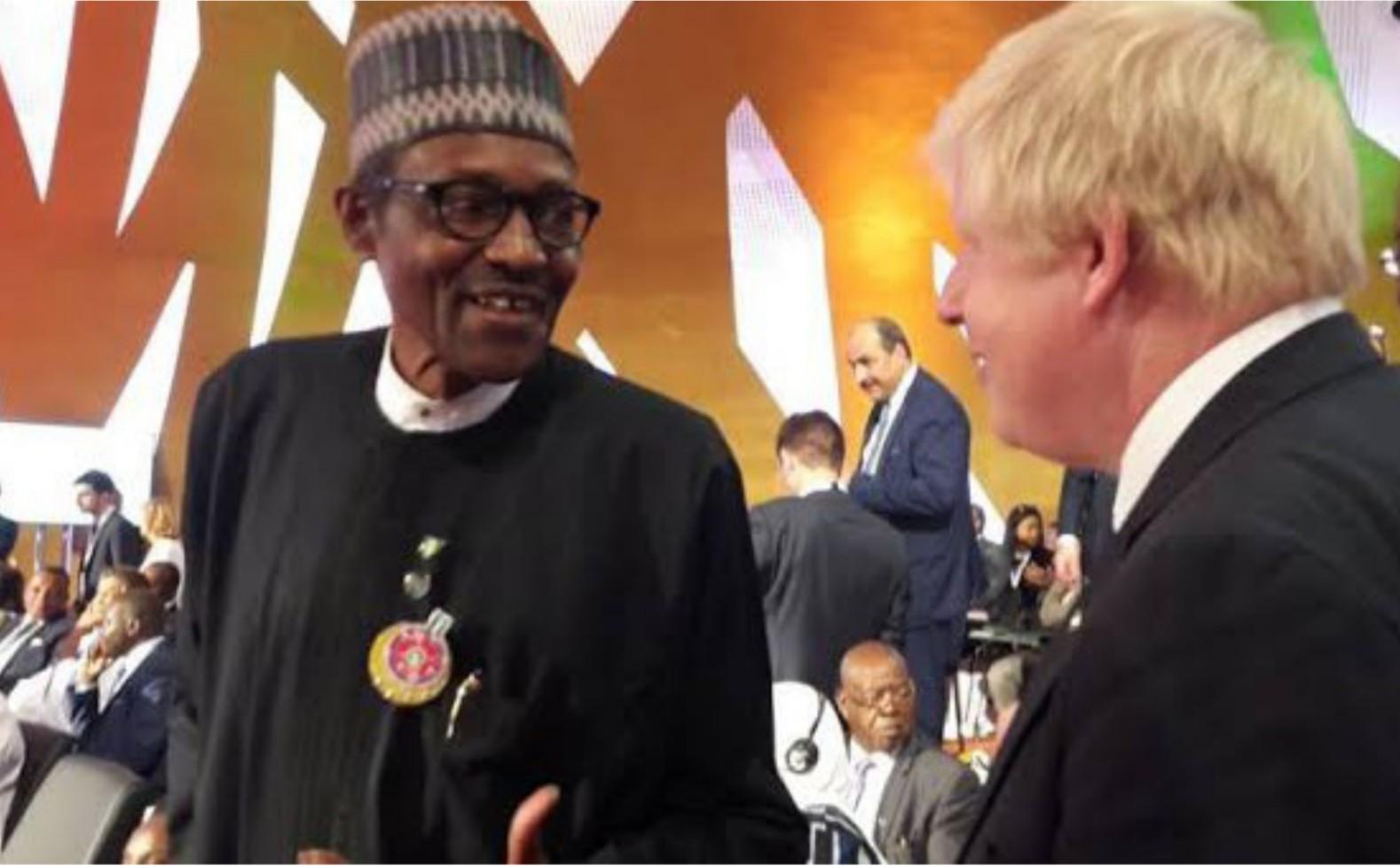 Muhammadu Buhari and Boris Johnson