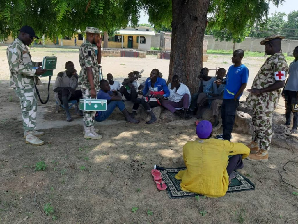 Photos Of Boko Haram Terrorists And Family Members Who Surrendered To Soldiers In Borno