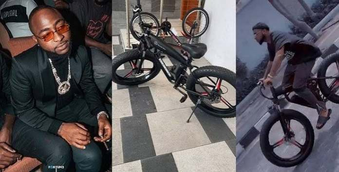 Davido buys new mercedes bicycle