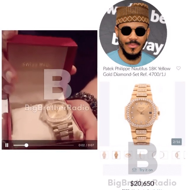 Ozo was given a patek gold watch worth N8m