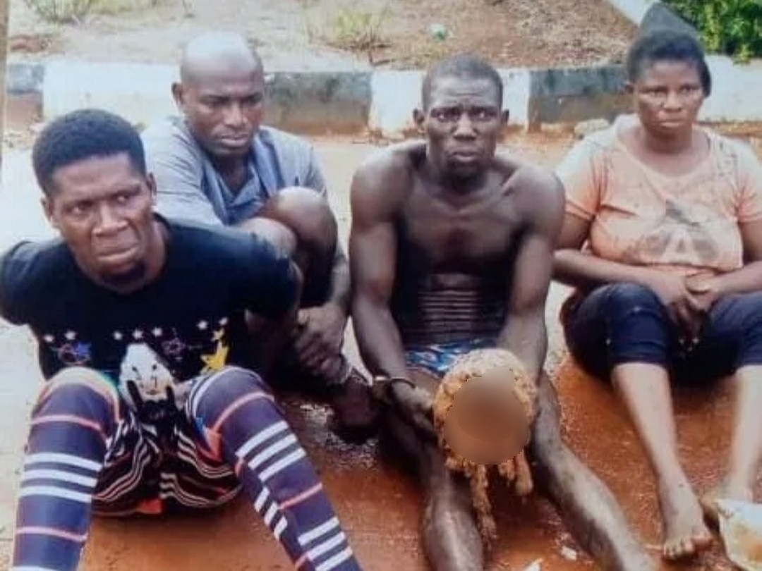 The men caught with human skull in Ogun state