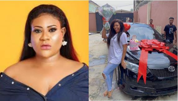 Nkechi gifts his sister a car