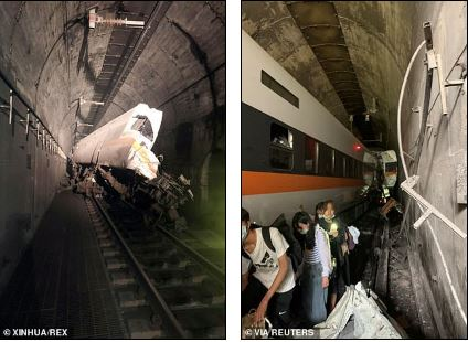 Train collides with truck inside tunnel