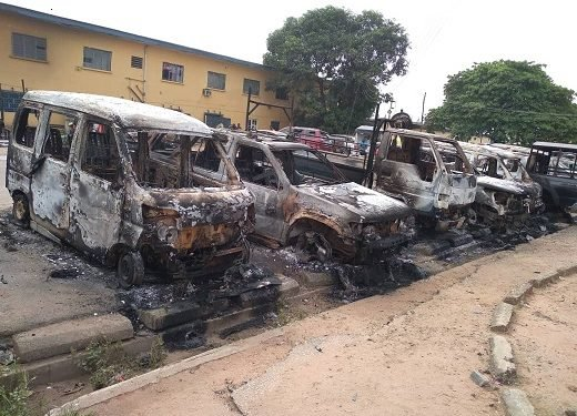 Imo police headquarters after attack