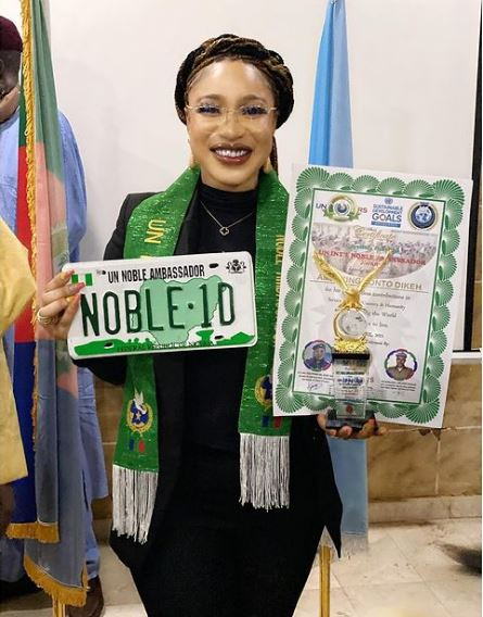 Tonto Dikeh is a UN ambassador