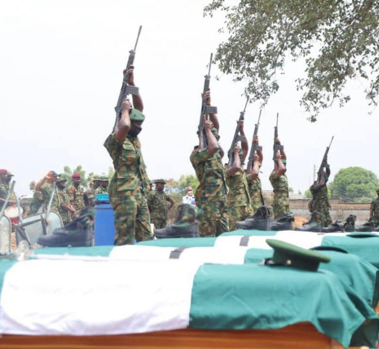 Soldiers killed in Benue state buried amid tears
