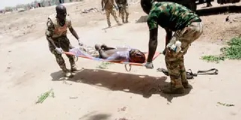 The soldier killed himself in Borno