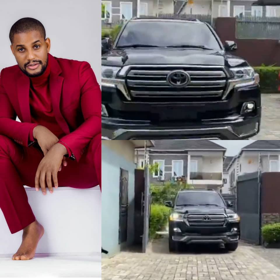 Actor, Alex Ekubo acquires a Toyota Landcruiser
