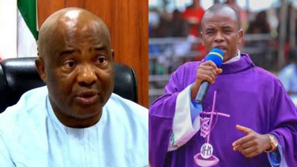 Hope Uzodinma and Rev. Father Mbaka
