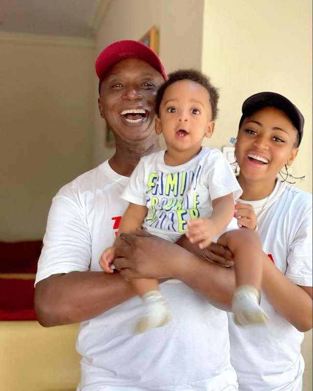 Ned Nwoko and wife, Regina celebrate their son, Munir