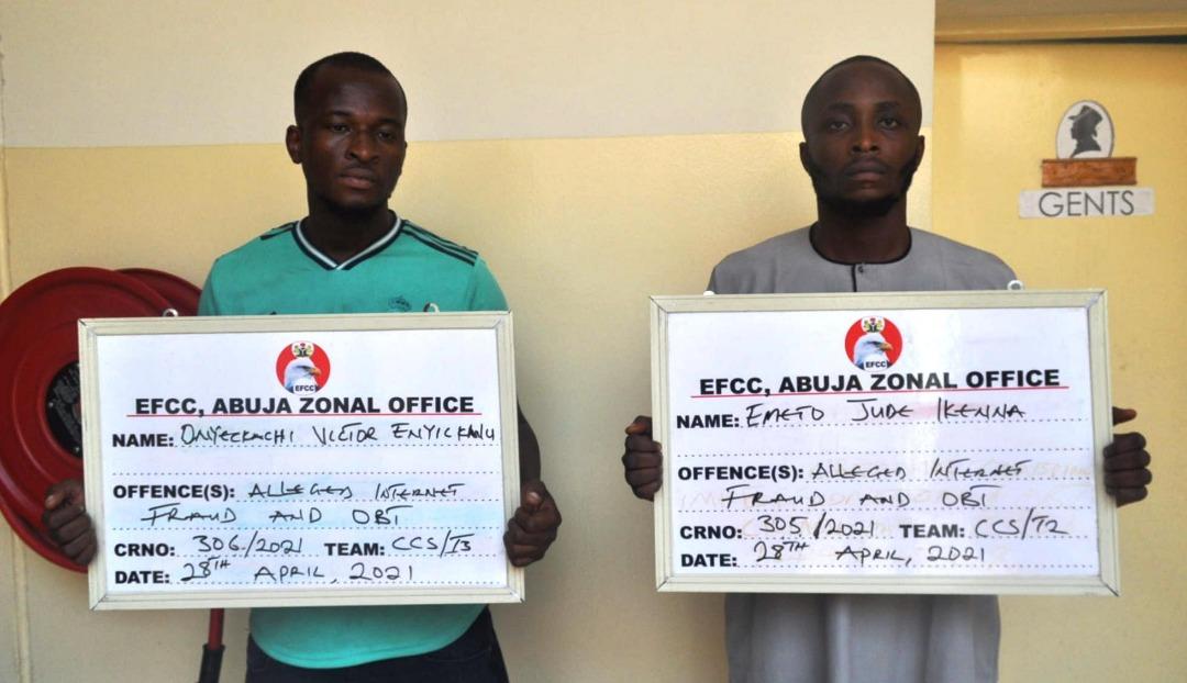 Suspected fraudsters arrested by EFCC
