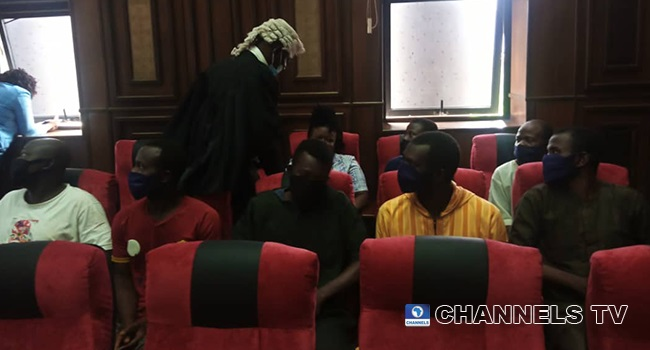 Aides of Igboho produced in court today by DSS