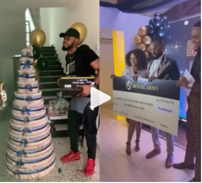 Prince gets N10 million cheque from fans