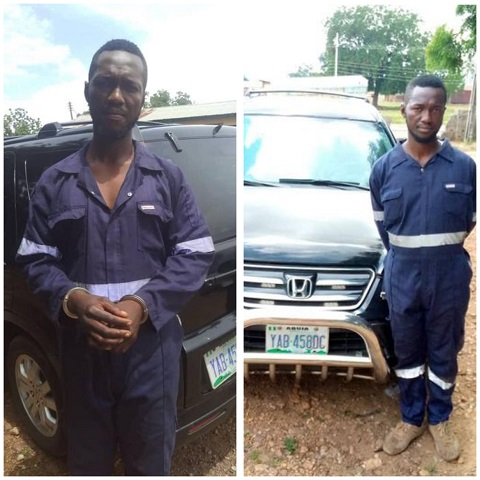 The car thief arrested by the police