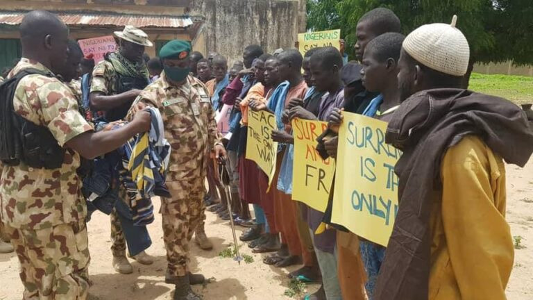 Boko Haram terrorists surrender to the army