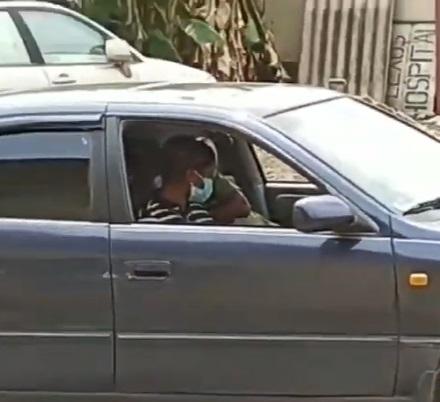 Chidinman cruising inside a camry car